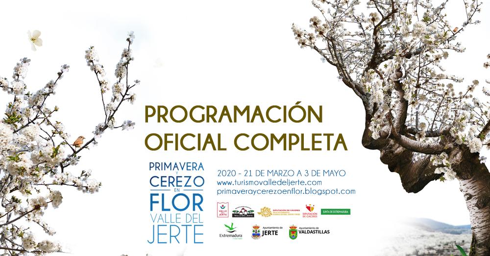 Floración, flor del cerezo, Cáceres